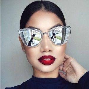 Quay Australia Mirrored Cat Eye Sunglasses